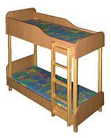 Кровать детская двухъярусная в детский сад, фото 1