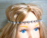 Украшение для нарядной прически, тика на голову (Серебро), фото 1