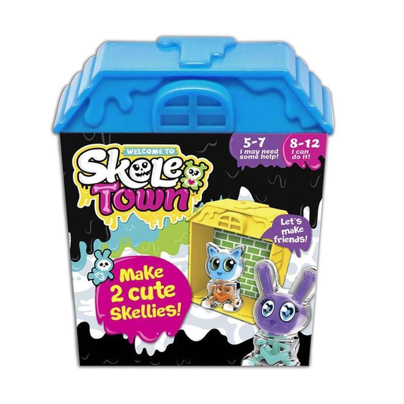 Игровой набор базовый с голубым домиком, «Skele Town» (167440-4)