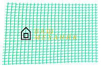 Сетка декоративная Клевер - 1,0 x 20 м (10 x 10 мм) зеленая