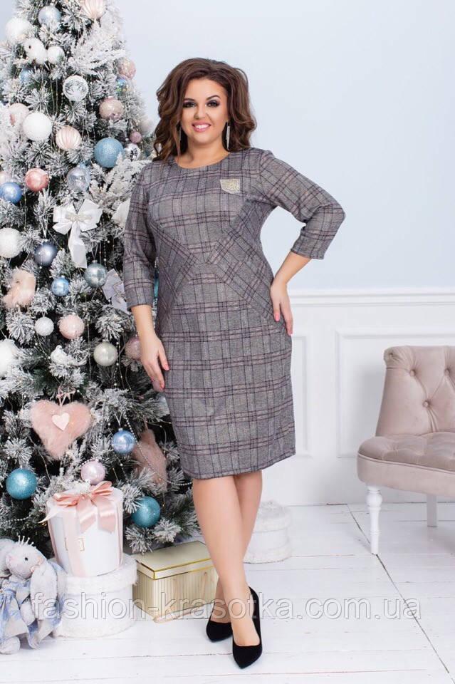 Женское платье увеличенных размеров 52-58
