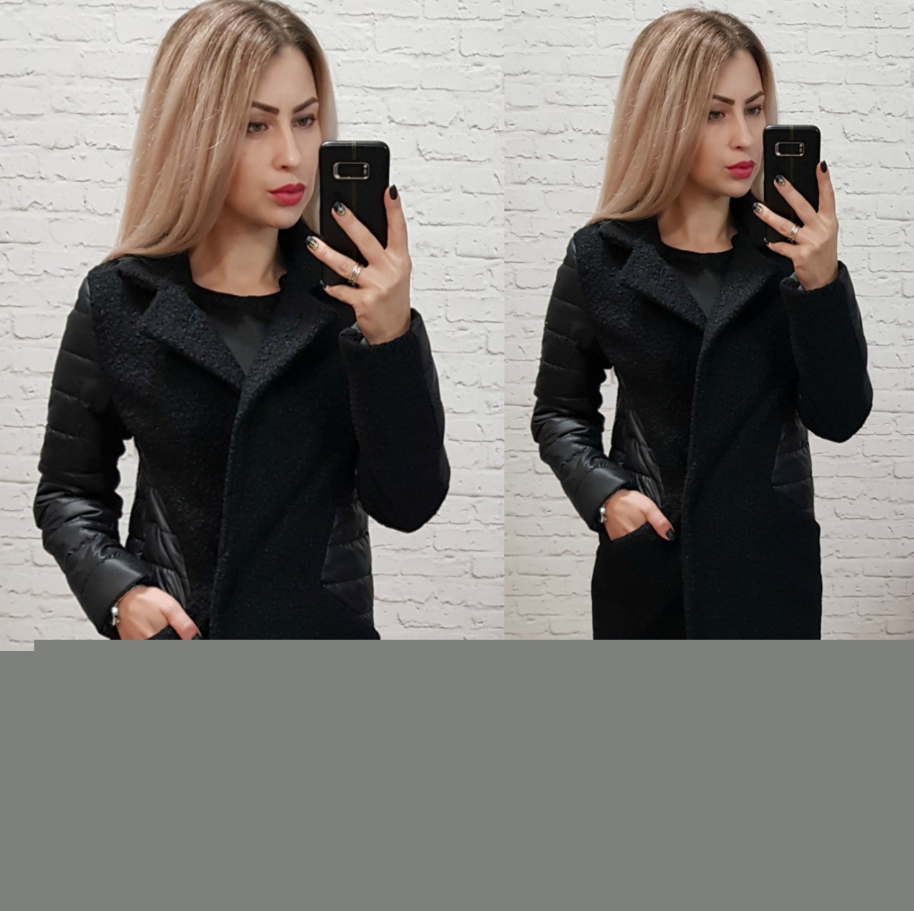 Пальто женское, букле, модель 821, цвет - черный