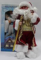Дед мороз музыкальный,1203-16А, 40 см, поздравляет, поет песню, фото 1