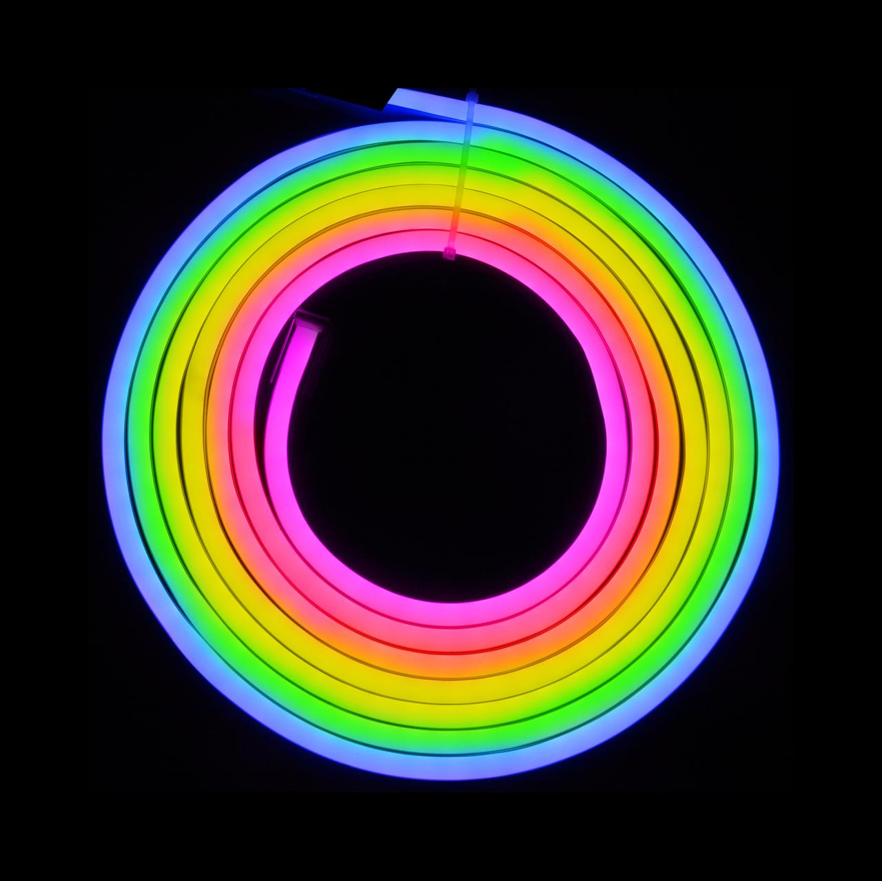 Уличный светодиодный шнур Неон-Флекс Lumion Neon-Flex 8х16 мм 92 LED/м.п. наружный цвет RGB