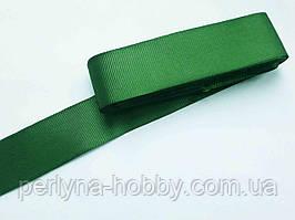 Тесьма лента репсовая широкая Стрічка репсова 4 см 40 мм, № 75, зелена. Туреччина, 1 метр