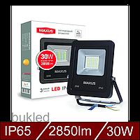 Світлодіодний прожектор MAXUS 30W, 5000K, фото 1