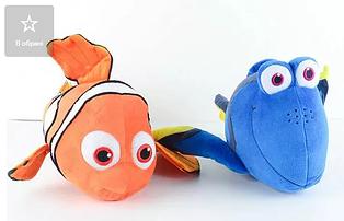 Мягкая игрушка 30х10 см рыба-клоун из мультфильма в поисках Дори Немо