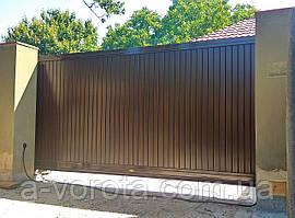Откатные ворота TM Hardwick (3 500×2 000 мм)
