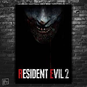 Постер Resident Evil 2, Обитель зла 2. Размер 60x42см (A2). Глянцевая бумага