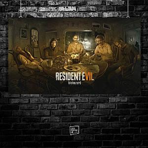 Постер Resident Evil 7, Обитель зла 7. Размер 60x35см (A2). Глянцевая бумага