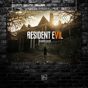 Постер Resident Evil 7, Обитель зла 7. Размер 60x42см (A2). Глянцевая бумага