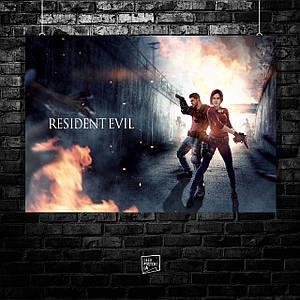 Постер Resident Evil, Обитель зла. Размер 60x42см (A2). Глянцевая бумага