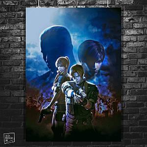 Постер Resident Evil: The Darkside Chronicles, Обитель зла. Размер 60x43см (A2). Глянцевая бумага