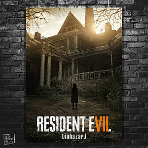Постер Resident Evil Biohazard, Обитель зла. Размер 60x42см (A2). Глянцевая бумага
