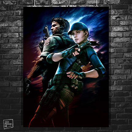 Постер Resident Evil, Обитель зла. Размер 60x42см (A2). Глянцевая бумага, фото 2