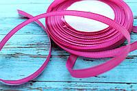 Лента репсовая 6мм, 1 метр, розовая