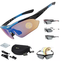 ROCKBROS спортивные очки 5 линз поляризация UV400 велоочки вело