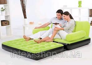 BestWay 67356-1 Comfort (Air-O-Space) Надувной диван-трансформер 5в1 (188x152x64) + насос 220V. Велюр., фото 2