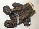 Комбинезон на меху 35 см разм 2 коричневый для собак, фото 5