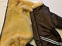 Комбинезон на меху 35 см разм 2 коричневый для собак, фото 7