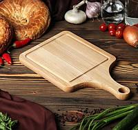 Кухонная доска для нарезки 35х20 см, массив дуба, ясеня, фото 1