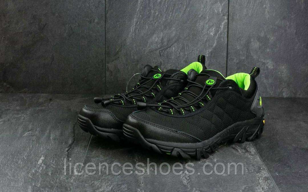 Мужские зимние (ТЕРМО БЕЗ МЕХА) кроссовки Merrell IceBerg Black/Green