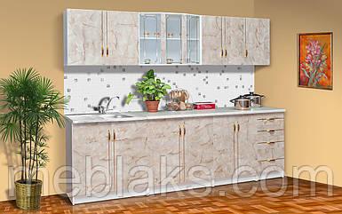 Кухня «Карина» базовая белый/мрамор Мир Мебели