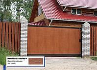 Откатные ворота из сэндвич-панелей (3 500×2 000 мм)