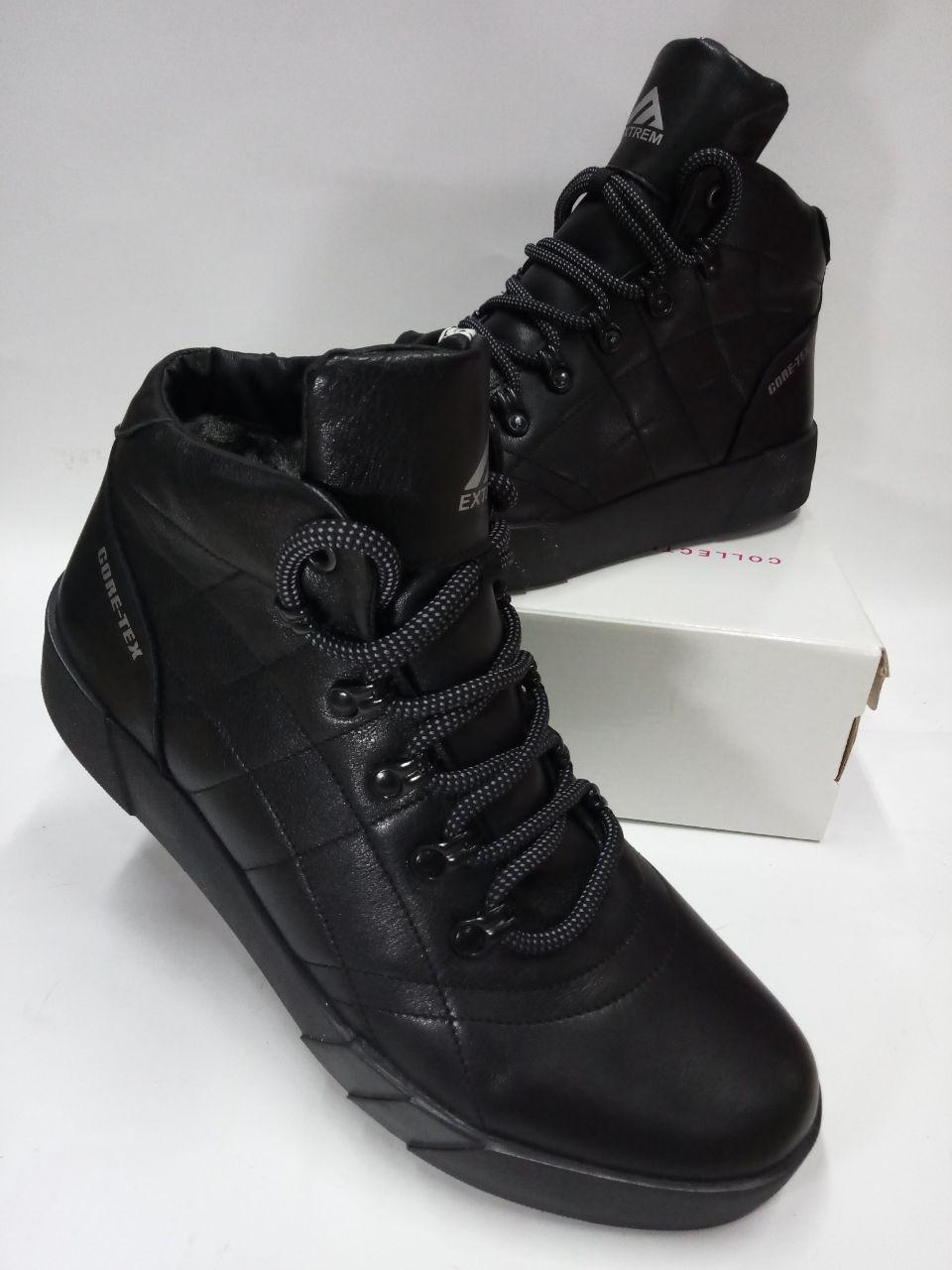 Мужские ботинки зимние из натуральной кожи EXTREME Б4027