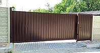 Ворота-профнастил металлические