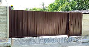 Металлические ворота из профнастила