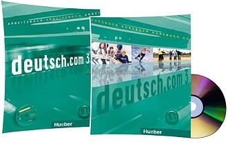 Немецкий язык / Deutsch.com / Arbeitsbuch+Kursbuch+CD. Учебник+Тетрадь (комплект с диском), 3 / Hueber
