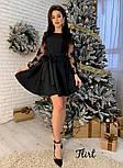 Женское изысканное платье с рукавами из итальянского кружева, фото 2