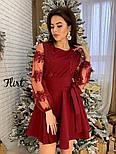 Женское изысканное платье с рукавами из итальянского кружева, фото 4