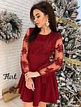 Женское изысканное платье с рукавами из итальянского кружева, фото 6