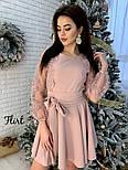 Женское изысканное платье с рукавами из итальянского кружева, фото 8