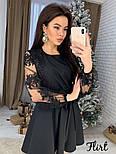 Женское изысканное платье с рукавами из итальянского кружева, фото 3