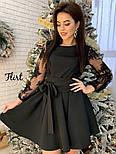 Женское изысканное платье с рукавами из итальянского кружева, фото 7