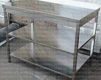 Стол производственный из нержавеющей стали с 2 полками 1000*500*850,