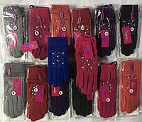 Женская нарядная перчатка с мехом р М-L ™Корона, фото 1