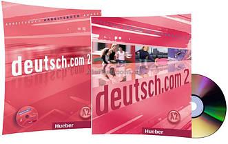Немецкий язык / Deutsch.com / Arbeitsbuch+Kursbuch+CD. Учебник+Тетрадь (комплект с диском), 2 / Hueber