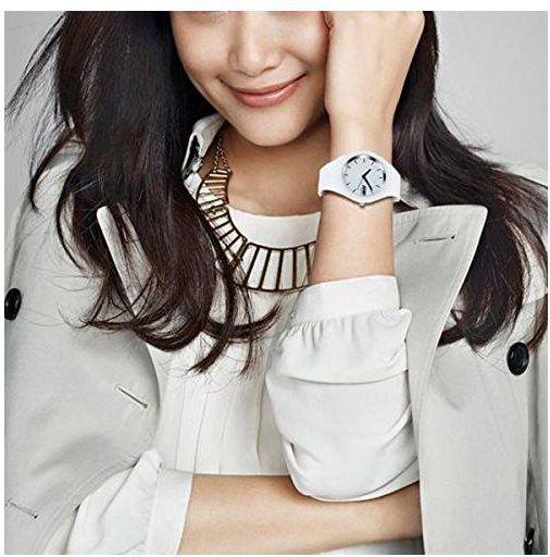 Оригинальные женские часы 9068 RUBBER WHITE