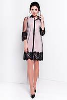 Стильная чёрная сетка-платье, фото 1