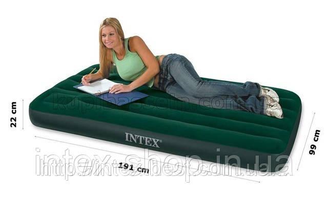 Надувной матрас Intex 66927 размеры 99х191х22 см., фото 2