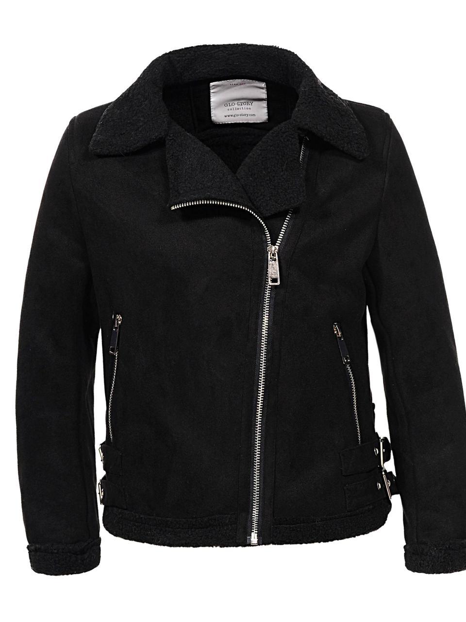 Куртки(дублёнки) для девочек на меху оптом, размеры 110-160 Glo-story, арт. GPY-6795
