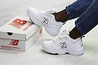 Женские кроссовки New Balance 608 белые на меху топ реплика
