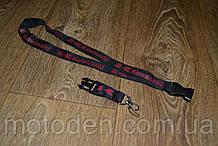 Шнурок на шею для ключей Kawasaki черный