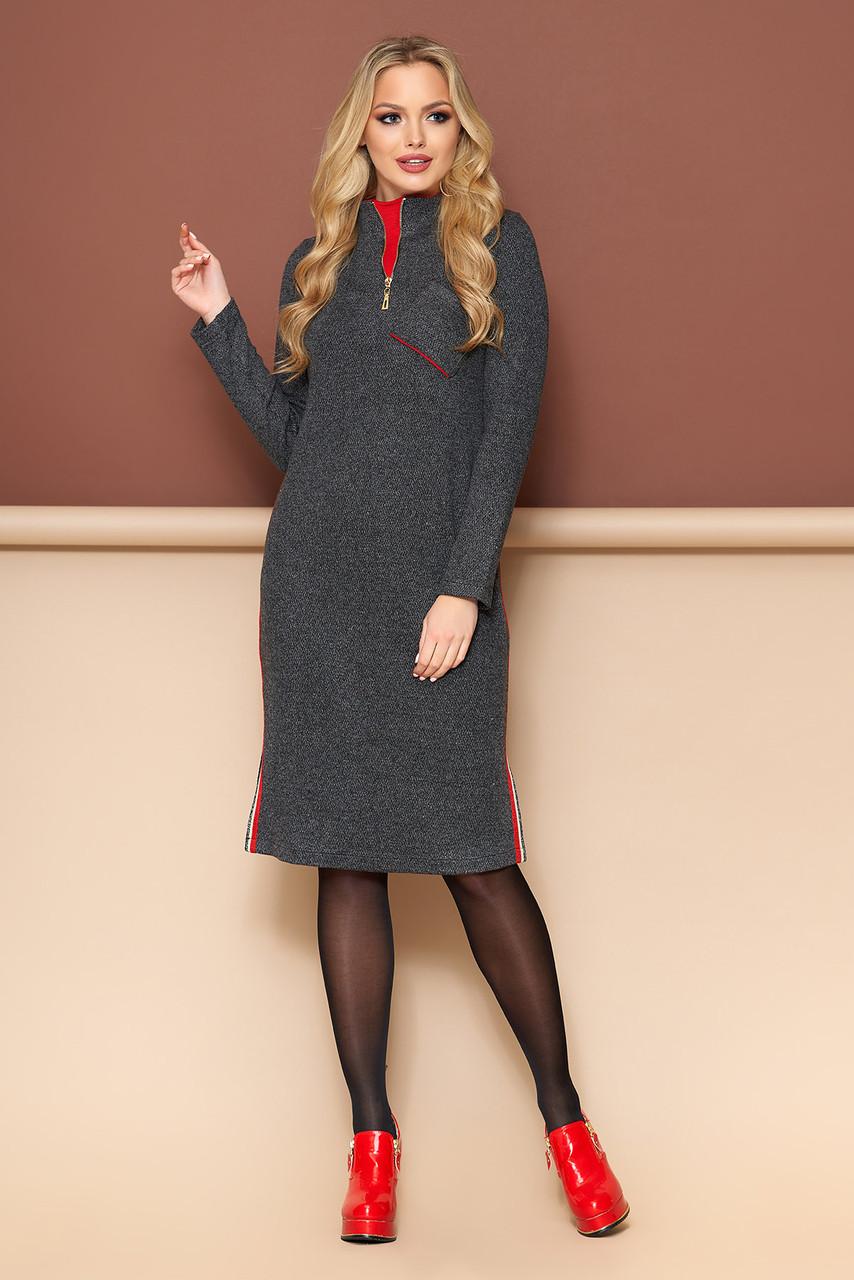 """Платье """"А-121"""" (черный)(размеры 44-54)"""