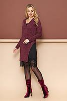 """Платье двойка """"Сиэтл"""" (бордовый)(S,M,L,XL), фото 1"""