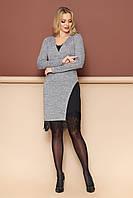 """Платье двойка """"Сиэтл"""" (серый)размер (S,M,L,XL), фото 1"""